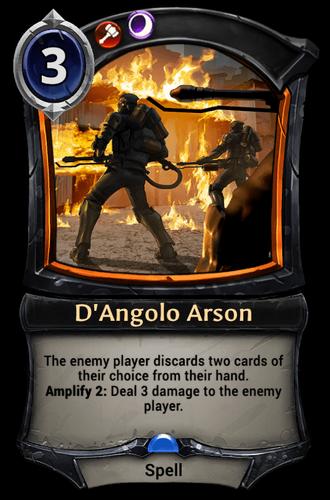 D'Angolo Arson card