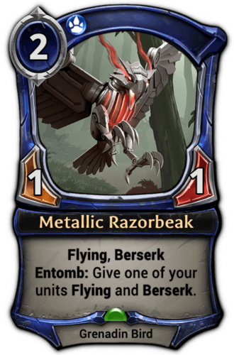Metallic Razorbeak card