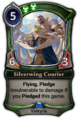 Silverwing Courier card