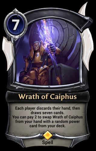 Wrath of Caiphus card