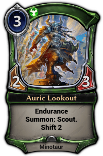 Auric Lookout card