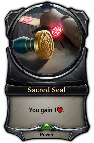 Sacred Seal card