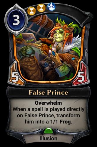 False Prince card