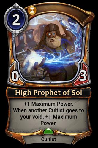 High Prophet of Sol card