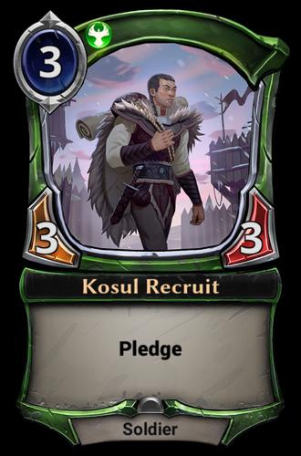 Kosul Recruit card