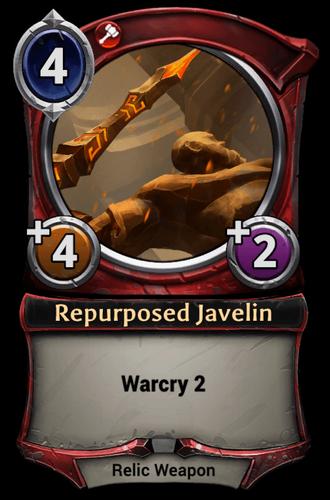 Repurposed Javelin card