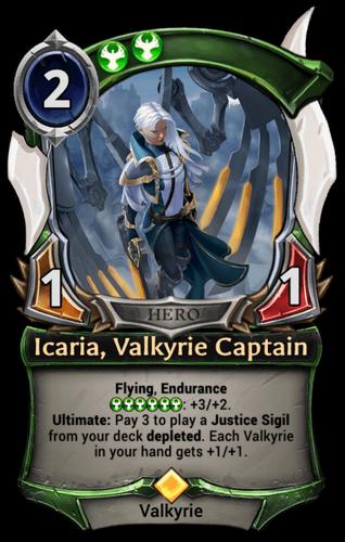 Alternate-art Icaria, the Liberator card