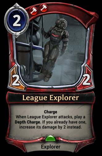 League Explorer card