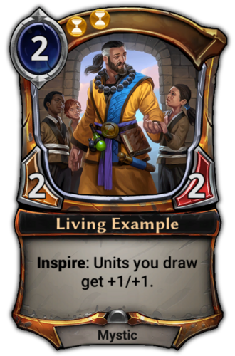 Living Example card