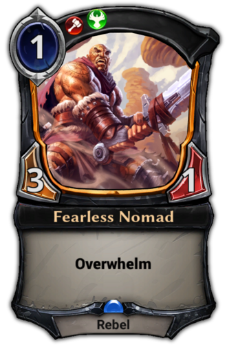Fearless Nomad card