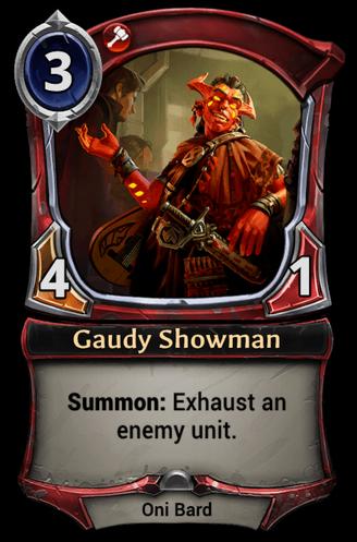 Gaudy Showman card