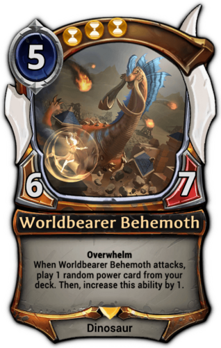 Alternate-art Worldbearer Behemoth card