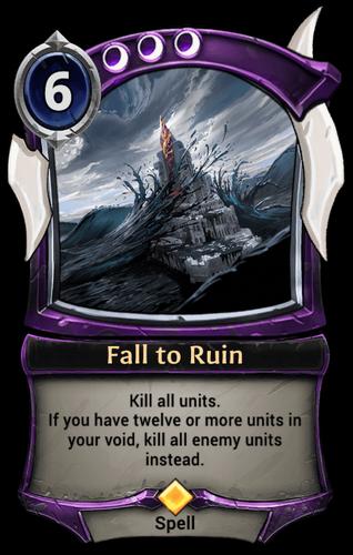 Fall to Ruin card