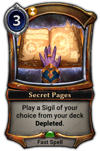 Secret Pages card