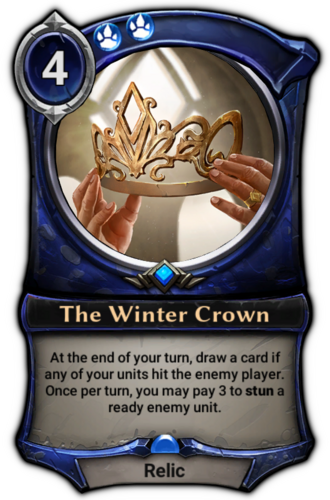 The Winter Crown card