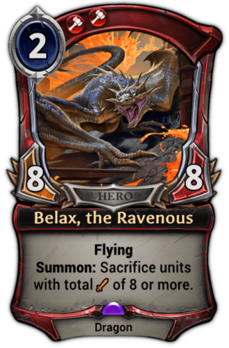 Belax, the Ravenous card