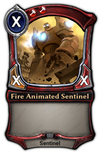 Fire Animated Sentinel card