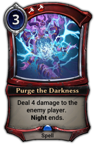 Purge the Darkness card