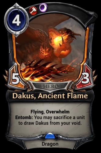 Dakus, Ancient Flame card
