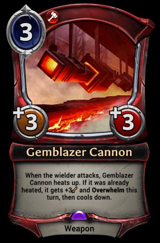 Gemblazer Cannon card