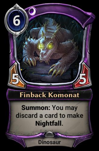 Finback Komonat card