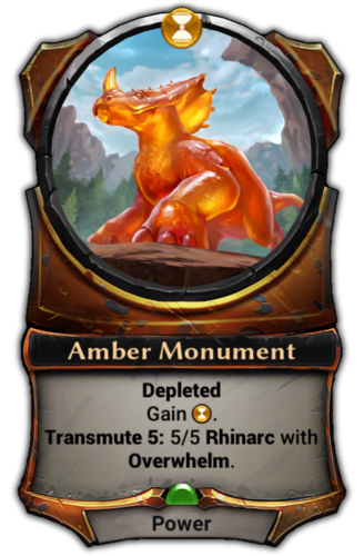 Amber Monument card