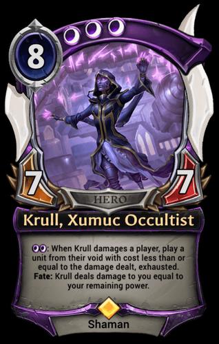 Krull, Xumuc Occultist card