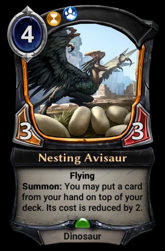 Nesting Avisaur card