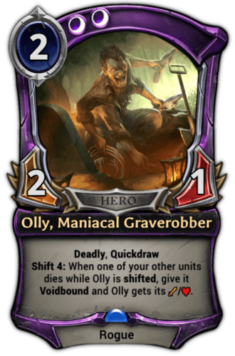 Olly, Maniacal Graverobber card
