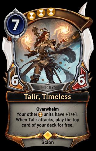 Talir, Timeless card