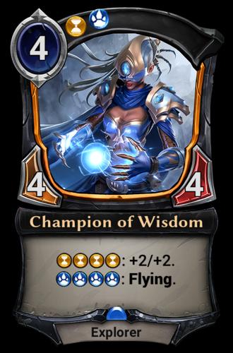 Champion of Wisdom card