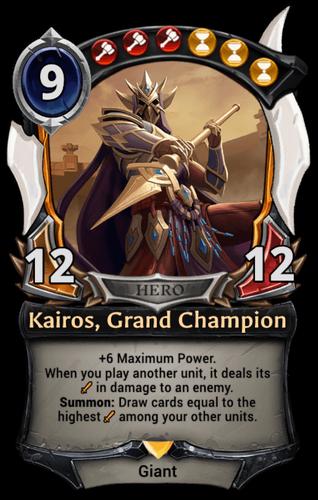 Alternate-art Kairos, Grand Champion card