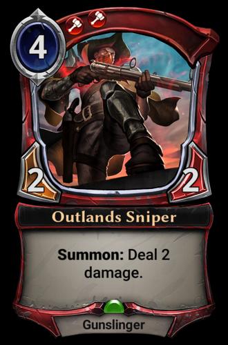 Outlands Sniper card