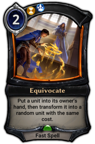 Equivocate card
