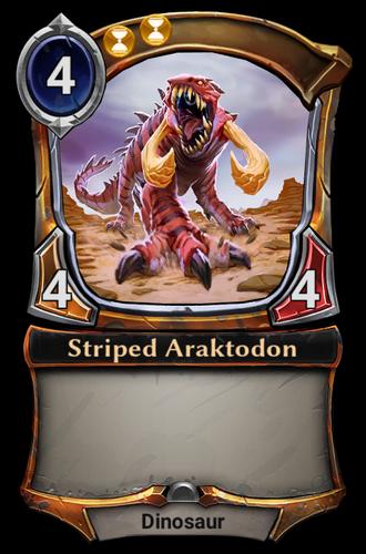 Striped Araktodon card