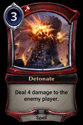 Detonate card