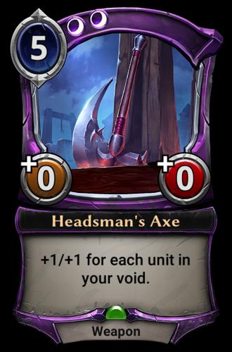 Headsman's Axe card