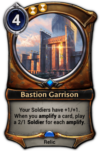 Bastion Garrison card