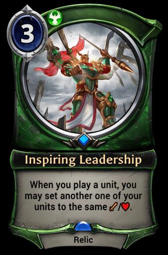 Inspiring Leadership card
