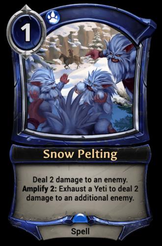 Snow Pelting card