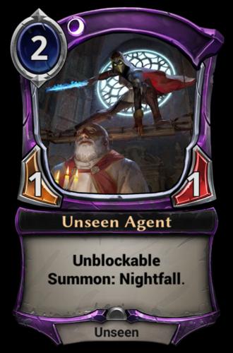 Unseen Agent card