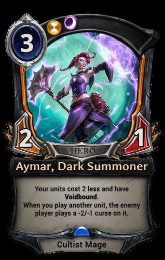 Aymar, Dark Summoner card