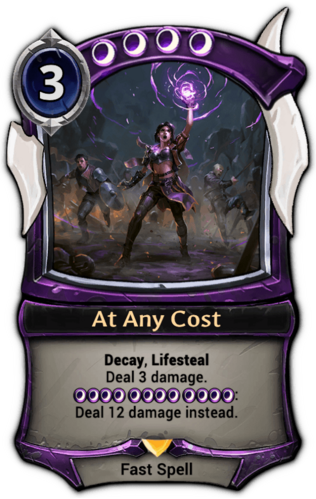 Alternate-art At Any Cost card