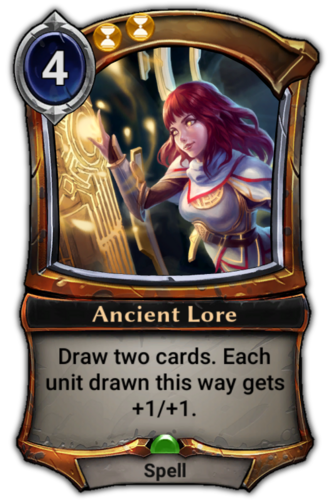 Ancient Lore card