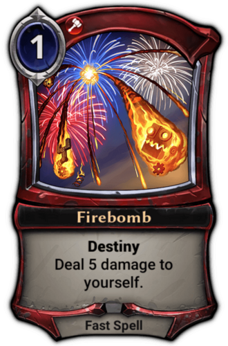 Alternate-art Firebomb card