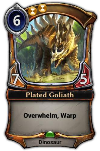 Plated Goliath card