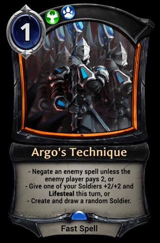 Argo's Technique card