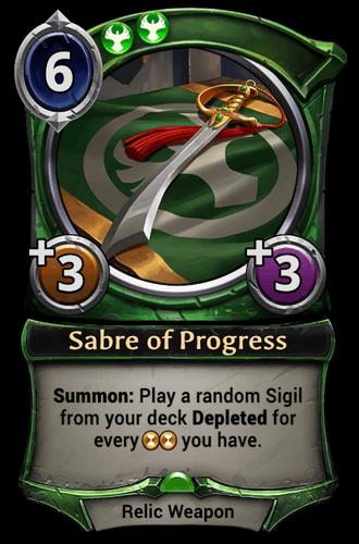 Sabre of Progress card