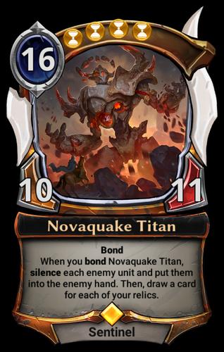 Novaquake Titan card