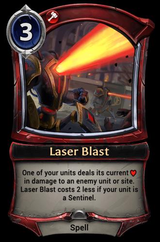 Laser Blast card
